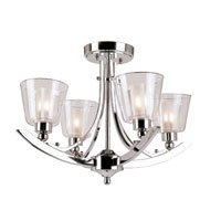 Trans Globe Lighting Energy Efficient Indoor 5 Light Semi-Flush Mount in Polished Chrome MDN-1064