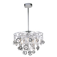 Trans Globe Lighting Contemporary Crystal 5 Light Pendant in Polished Chrome MDN-1090