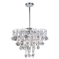 Trans Globe Lighting Contemporary Crystal 9 Light Pendant in Polished Chrome MDN-1091