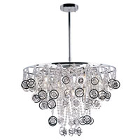 Trans Globe Lighting Contemporary Crystal 12 Light Pendant in Polished Chrome MDN-1092