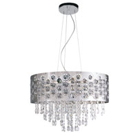 Trans Globe Lighting Contemporary Crystal 6 Light Pendant in Chrome MDN-1094