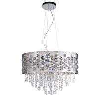 Trans Globe Lighting Contemporary Crystal 6 Light Pendant in Chrome MDN-1094 photo thumbnail