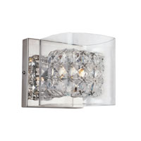 Trans Globe Glassed Cube 1 Light Wall Sconce in Polished Chrome MDN-1115