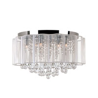 Veiled 8 Light 17 inch Polished Chrome Flushmount Ceiling Light