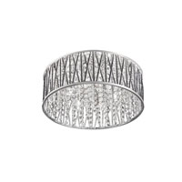 Signature 6 Light 16 inch Polished Chrome Flush Mount Ceiling Light