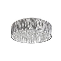 Signature 8 Light 23 inch Polished Chrome Flush Mount Ceiling Light