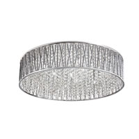 Signature 10 Light 28 inch Polished Chrome Flush Mount Ceiling Light