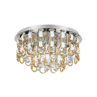 Trans Globe Champagne and Crystal 18 Light Flushmount in Polished Chrome MDN-1171-CHMP