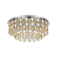 Trans Globe Champagne and Crystal 27 Light Flushmount in Polished Chrome MDN-1172-CHMP