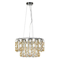Trans Globe Champagne and Crystal 13 Light Pendant in Polished Chrome MDN-1173-CHMP