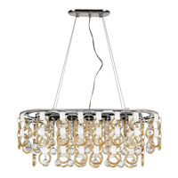 Trans Globe Champagne and Crystal 13 Light Pendant in Polished Chrome MDN-1174-CHMP