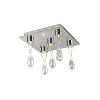 Trans Globe Lighting Bejeweled 5 Light Flush Mount in Polished Chrome MDN-1176