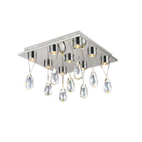 Trans Globe Lighting Bejeweled 9 Light Flush Mount in Polished Chrome MDN-1177