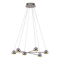 Trans Globe Lighting Signature 6 Light Pendant in Polished Chrome MDN-1210