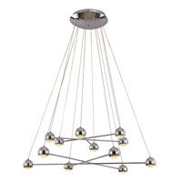 Trans Globe Lighting Signature 12 Light Pendant in Polished Chrome MDN-1211