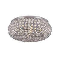 Starlight 5 Light 12 inch Polished Chrome Flushmount Ceiling Light