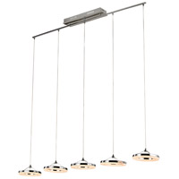 Optic II LED 8 inch Polished Chrome Pendant Ceiling Light