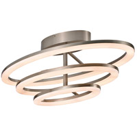 Optic II LED 16 inch Brushed Nickel Flush Mount Ceiling Light