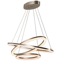 Optic II LED 16 inch Brushed Nickel Pendant Ceiling Light