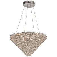 Trans Globe Lighting MDN-1417 Bel Air LED 23 inch Polished Chrome Pendant Ceiling Light