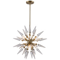 Collins 6 Light 24 inch Antique Silver Leaf Pendant Ceiling Light