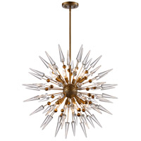 Collins 12 Light 32 inch Antique Gold Pendant Ceiling Light
