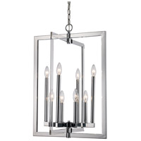 Darby 8 Light 19 inch Polished Chrome Pendant Ceiling Light
