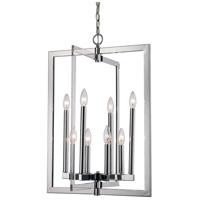 Trans Globe Lighting MDN-1480 Darby 8 Light 19 inch Polished Chrome Pendant Ceiling Light