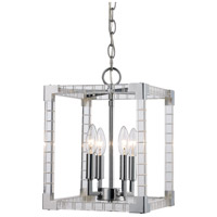 Sinclair 4 Light 10 inch Polished Chrome Pendant Ceiling Light