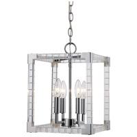 Trans Globe Lighting MDN-1491 Sinclair 4 Light 10 inch Polished Chrome Pendant Ceiling Light