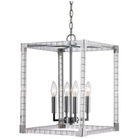 Sinclair 4 Light 14 inch Polished Chrome Pendant Ceiling Light