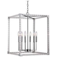 Trans Globe Lighting MDN-1493 Sinclair 6 Light 18 inch Polished Chrome Pendant Ceiling Light