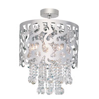 Trans Globe Lighting Modern Collection 8 Light Semi-Flush Mount in Chrome MDN-697 photo thumbnail