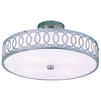Modern Collection 4 Light 16 inch Polished Chrome Semi-Flush Mount Ceiling Light