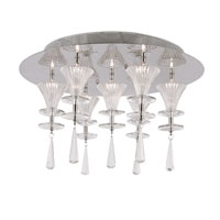 Trans Globe Lighting Modern Meets Traditional 7 Light Flush Mount in Polished Chrome MDN-929