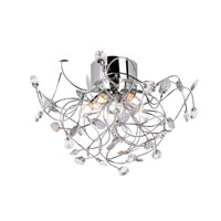 Trans Globe Lighting Modern Collection 5 Light Flush Mount in Polished Chrome MDN-961 photo thumbnail