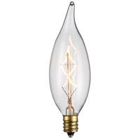 Trans Globe Lighting OC-CA40CL Vintage Filament Candelabra E12 40 watt 120V Bulb
