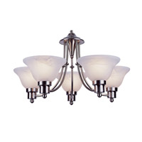 Trans Globe Lighting PL-6545-BN Payson 5 Light 24 inch Brushed Nickel Chandelier Ceiling Light