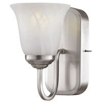 Trans Globe Signature 1 Light Wall Sconce in Brushed Nickel PL-10001-BN