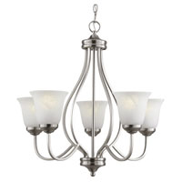 Trans Globe Lighting Energy Efficient 5 Light Chandelier in Brushed Nickel PL-10005-BN
