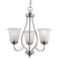 Trans Globe Lighting Energy Efficient 3 Light Chandelier in Brushed Nickel PL-10007-BN