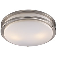 Trans Globe Lighting PL-10261-BN Barnes 2 Light 14 inch Brushed Nickel Flushmount Ceiling Light