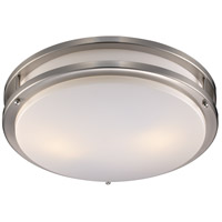 Trans Globe Lighting PL-10262-BN Barnes 3 Light 17 inch Brushed Nickel Flushmount Ceiling Light
