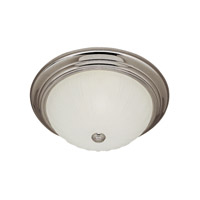 Trans Globe Melon 2 Light Flush Mount in Brushed Nickel PL-13211-1-BN