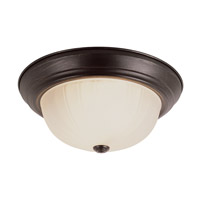 Trans Globe Melon 2 Light Flush Mount in Rubbed Oil Bronze PL-13211-1-ROB