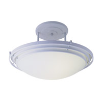 Trans Globe Signature 3 Light Semi-Flush Mount in White PL-2481-WH