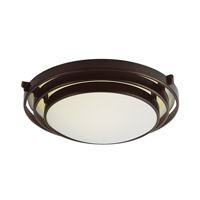 Signature 2 Light 16 inch Rubbed Oil Bronze Flush Mount Ceiling Light