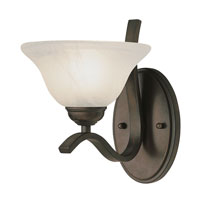 Pine Arch 1 Light 10 inch Rubbed Oil Bronze Vanity Light Wall Light
