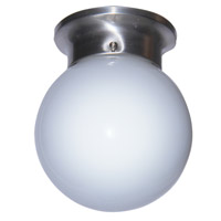 Trans Globe Idlewyld 1 Light Flushmount in Brushed Nickel PL-3606-BN