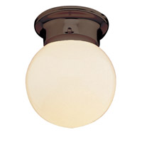 Trans Globe Idlewyld 1 Light Flushmount in Rubbed Oil Bronze PL-3606-ROB